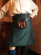 Lady Chrystel kilts from France  KNIFE PLEAT